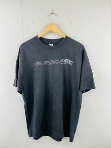 Alstyle Men's Vintage Short Sleeve Crew Graphic T Shirt Size XL Black Gotta Race