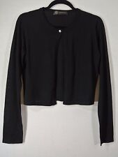 396a18689d NEW Versace Wool Crop Cardigan- Black size 44 US M  675