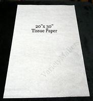 "50 Sheets of Premium White Tissue Paper 20""x 30"" Matte Finish Free Shipping!"