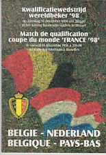 Programme / Programma Belgium v Holland 14-12-1996 World Cup 1998 Qualifier