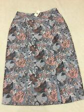 Anthropologie Isla Maude Clarissa Jacguard Front Slits Skirt Size Xs $118