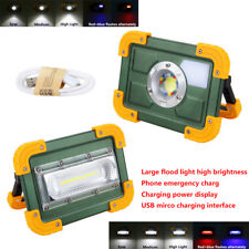 30W COB LED USB Rechargeable Flood Light Spot Camping Outdoor Work 18650 Lamp