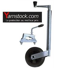 Roue jockey diam 35mm + collier pour Remorque Caravane