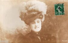 BL733 Carte Photo vintage card RPPC Femme mode fashion Coralie Blythe actress