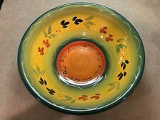 Tabletops Gallery La Province HandPainted Hand Crafted Serving Bowl 14 Inch