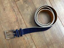 REMO TULLIANI Blue Genuine Italian Leather Belt Size 44 27493
