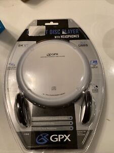 GPX Portable CD Player With Headphones (C3848) Brand New In Package Silver