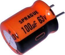 Sprague Electrolytic Capacitor 100uF 63V 515D Series 10x12.5mm 515D107M063CC6A