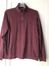 Men's Izod 1/4 zip pull over long sleeve shirt - lightweight sweater Size Medium