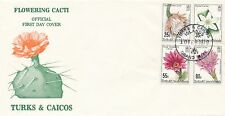 Turks & Caicos *CANCELLATION DATE ERROR* CACTUS #471-4 FDC GOV'T ISSUED; (1981)