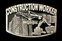 CONSTRUCTION WORKER CRANE OCCUPATION METAL STEEL BELT BUCKLE BOUCLE DE CEINTURE