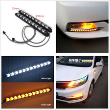2 X Waterproof White/Amber LED Switchback Flowing Light Flexible Lamps Strip DRL