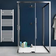 Box doccia 3 lati 70x100x70 cm cristallo trasparente con profili alluminio h 200