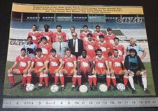 CLIPPING POSTER FOOTBALL 1985-1986 D2 RCFC BESANCON LEO-LAGRANGE