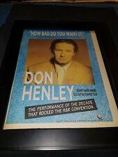 Don Henley How Bad Do You Want It Rare Original Radio Promo Poster Ad Framed!