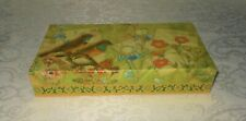 Punch Studio Gold Foil Larks Meadow Birds Keepsake Memory Gift Box NEW FREE SHIP