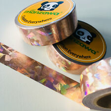 WASHI TAPE ROSE GOLD FOIL HOLOGRAPHIC 15MM X 10MTR PLANNER CRAFT WRAP MAIL ART