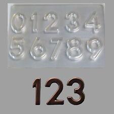 Schokoladenform - Dekorfolie - Aufleger-Zahlen 0-9