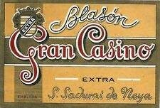 Etiqueta Cava Blason Gran Casino,San Sadurni De Noya (Barcelona)