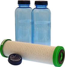 Carbonit NFP Premium Filtre et 2 x 0,75 Litre Bouteille pour Soif sur la route