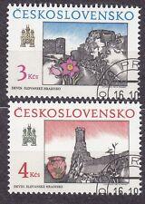 CZECHOSLOVAKIA 1989 USED SC#2763/64 Bratislava Views