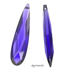 SALE Cubic Zirconia Flat Pear Briolette Pendant Bead 9x36mm Purple #64643