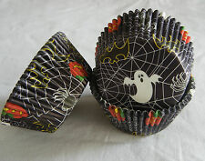 50 Halloween spider ghost purple cupcake liners baking paper cup 50x33mm