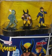 Marvel WOLVERINE The XMEN Cyclops Iceman TabApp Portable Heroclix 3 Figure Pack