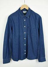 J. LINDEBERG SLIM FIT DANI CL DNM MIX CHAMBRAY Men's L Denim Blue Shirt 22003_JS