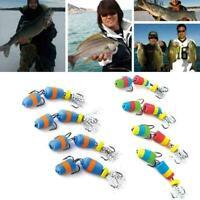 4PCS Fishing Lure Jig Swivel Soft Lure Insect Bait Swim Baits Bass Wobbler R6Z7