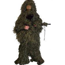 Gillie Ghillie Suit 5Pcs Woodland Camouflage Camo New Pants Jacket Hood Gun Bag
