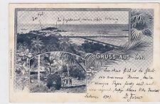 K 565- Gruss aus Yap,  Deutsch Neuguinea, Karolinen, Eingeborene, 1903  gelaufen