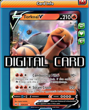 Torkoal V Pokemon TCG Online PTCGO SENT FAST 024/202 Sword & Shield DIGITAL CARD