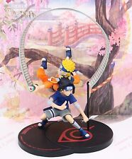 Anime Naruto Remix Shippuden Naruto & Sasuke PVC ninja scroll figure statue nobx