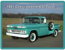 1961 Chevy Apache C10 Short Bed Truck Refrigerator / Tool Box  Magnet