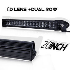8D Super Slim 20Inch 180W CREE Single Row LED Light Bar Combo Beam Off-Road