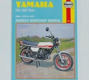 1975-1979 Yamaha RD400 RD 400 Twin HAYNES SERVICE & REPAIR MANUAL 333