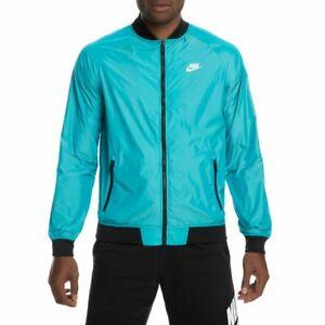 $100 Nike Windrunner Full Zip Varsity Jacket 924517-416 Men's Blue NWT Large L