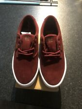Etnies Jameson Vulc Size 5 Burgundy Red White Suede Skate Shoes Trainers unisex