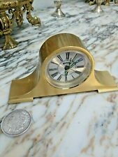 Bulova Miniature mantel Clock  Brass Collectible alarm clock