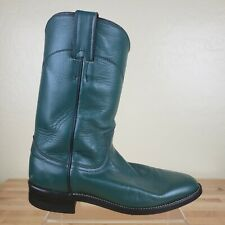 Justin Roper Western Cowboy Boots Womens Size 6 B Green Leather 3722