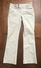 BANANA REPUBLIC Gray Pinstriped SLOAN FIT Flare Womens Stretch Dress Pants - 2