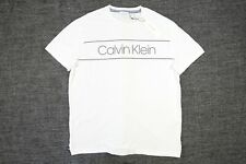 CALVIN KLEIN CK SP40544571 WHITE XL LOGO TSHIRT MENS NWT NEW
