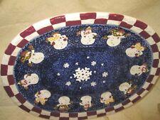 Boyds Bears Festive Burts Bundle Up Ceramic Platter-New & Sealed In Box!