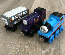 Thomas & Friends Wooden Railway Rare 1999 A DAY AT THE WORKS Trains