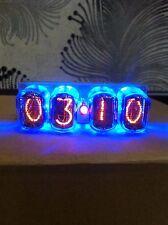 4xIN-12 Nixie Tubes Clock retro watch blue