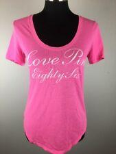 Victorias Secret Pink Womens Top XS Short Sleeve Love Pink Eighty Six Tee Shirt