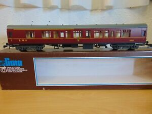 LIMA O GAUGE LMS MAROON 1ST CLASS CORRIDOR COACH EXCELLENT BOXED CONDITION