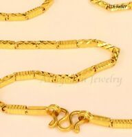 """22k solid gold SPARKLING necklace handmade from Thailand20"""" bb"""
