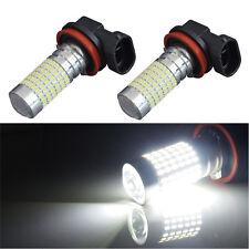 2x H11 H8 H9 2400LM 90° Angle Super Bright White 144SMD DRL Fog Light LED Bulbs